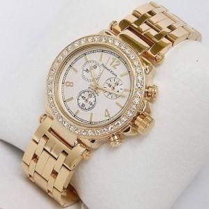 Altın tasarım saf altın bayan saat