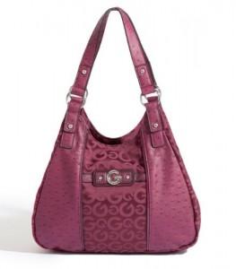 Koyu lila renginde bayan çanta