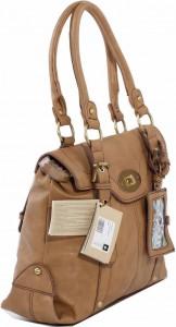 School bag'e benzer krem bayan çanta