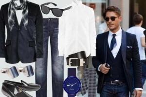 2014 kravat yerine fular kullanılmış erkek kombin modeli