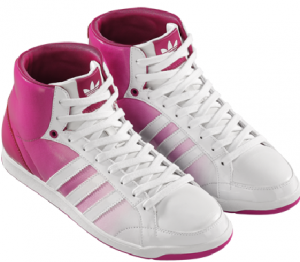 Beyazdan pembeye renk akışı olan adidas kız ayakkabı