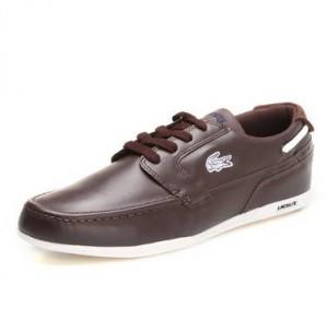 Deriden yapılmış içi spor ayakkabısına benzer kahverengi ayakkabı