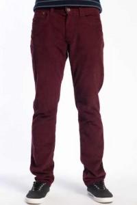 Kırmızımsı bordo renginde erkek keten pantolon