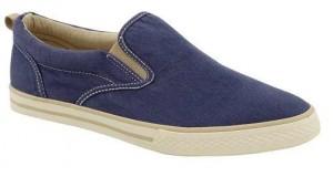 Kot kumaşından yapılmış ince kalıplı yazlık erkek ayakkabısı