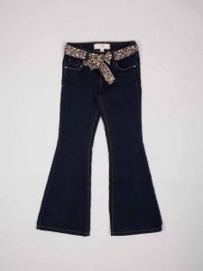 Tülbent kemerli lacivert genç bayanlar için kot pantolon