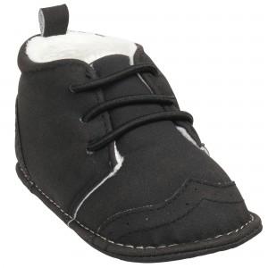 Yuvarlak bağcıklı köse erkek bebek ayakkabısı