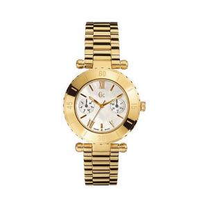 Altın ve siyahın mükemmel uyumu olduğu bayan kol saati
