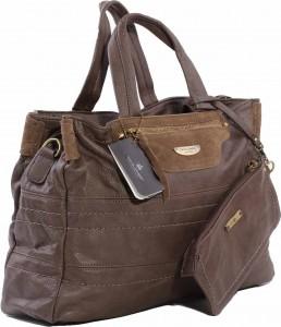 Bezden kahverengi bayan çanta