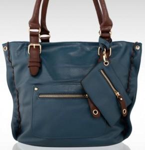 Bordo renklerinde lacivert bayan çanta