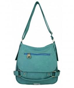 Buz mavisinden biraz daha koyu olan bayan kol çanta