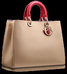 Fuşya pembesi kollara sahip krem bayan kol çantası