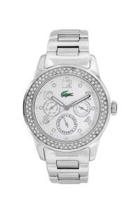 Gümüşe bandırılmış Lacoste bayan saatleri