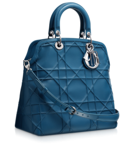 Hem elle hem kolla taşınabilir mavi bayan çanta