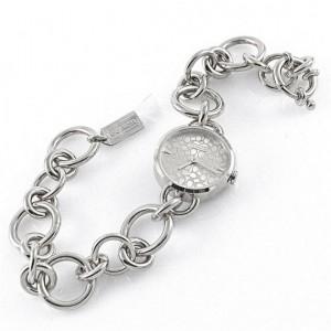 Kemer yerine zincir kullanılmış metal bayan kol saatleri