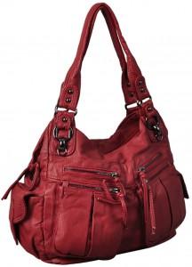 Koyu pembe bayan kol çantası