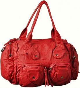 Liseli kızlar için bayan kırmızı çanta
