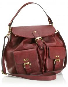 Mini sırt çantası olan bayan kol çantası
