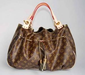 Naylondan yapılma kahverengi bayan çanta