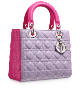 Purple and pink color's ladies bag